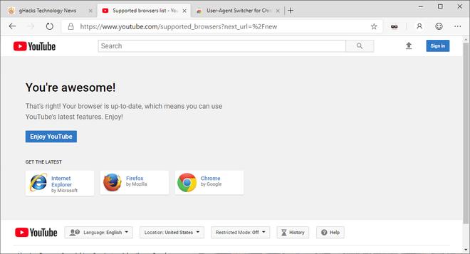 Google chặn không cho trình duyệt Edge mới của Microsoft truy cập thiết kế mới của YouTube ảnh 3
