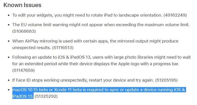 Những điều kiện để có thể cài đặt được iOS 13 beta.