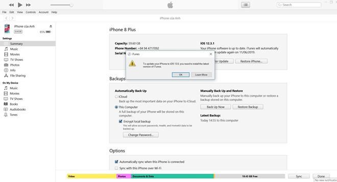 Người dùng Windows cho biết không thể cài đặt iOS 13 beta bằng iTunes trên Windows.