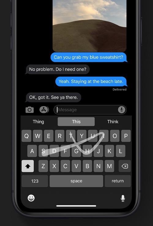 Apple đưa tính năng vuốt ngón tay trên bàn phím để nhập văn bản lên iOS 13 ảnh 2