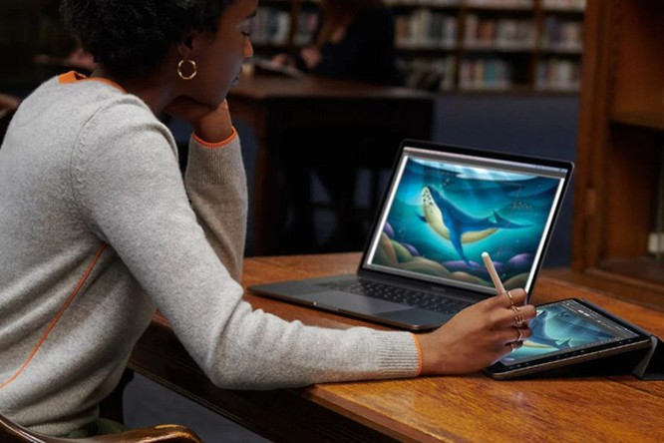 Với iPadOS, những chiếc iPad cũng có thể kết hợp với bút Pencil và máy tính Mac để trở thành một bàn vẽ. Đây là tính năng mà chắc chắn các chuyên viên xử lý đồ họa hay các nhà thiết kế sẽ thường xuyên sử dụng.