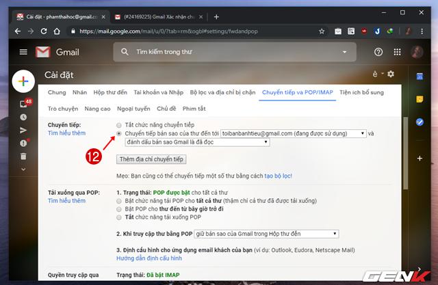 Giải pháp di chuyển toàn bộ mail từ Gmail cũ sang tài khoản mới ảnh 15