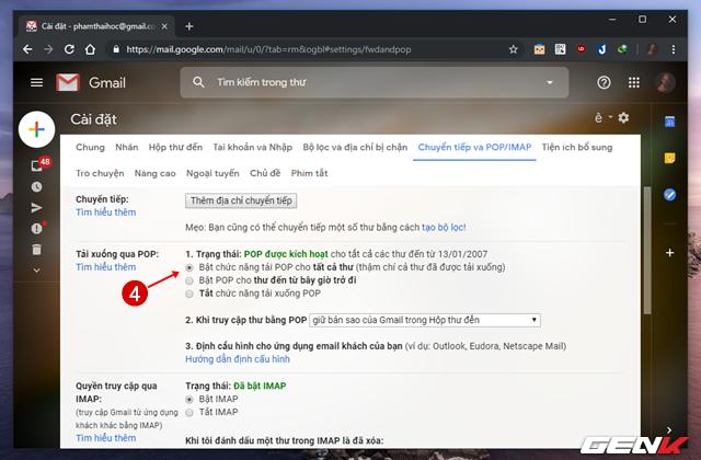 Giải pháp di chuyển toàn bộ mail từ Gmail cũ sang tài khoản mới ảnh 5