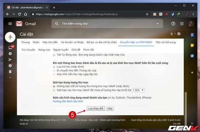 Giải pháp di chuyển toàn bộ mail từ Gmail cũ sang tài khoản mới ảnh 6