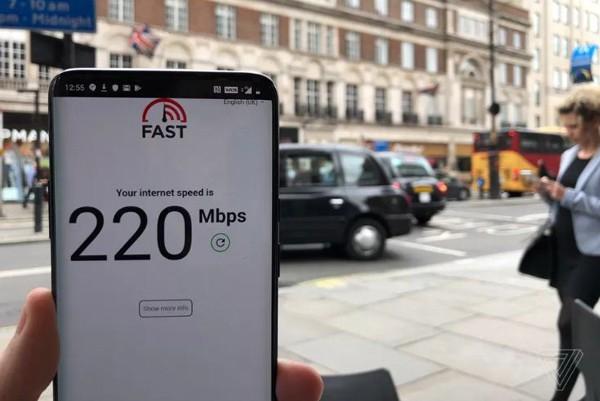 Tốc độ trung bình của kết nối 5G tại Anh.