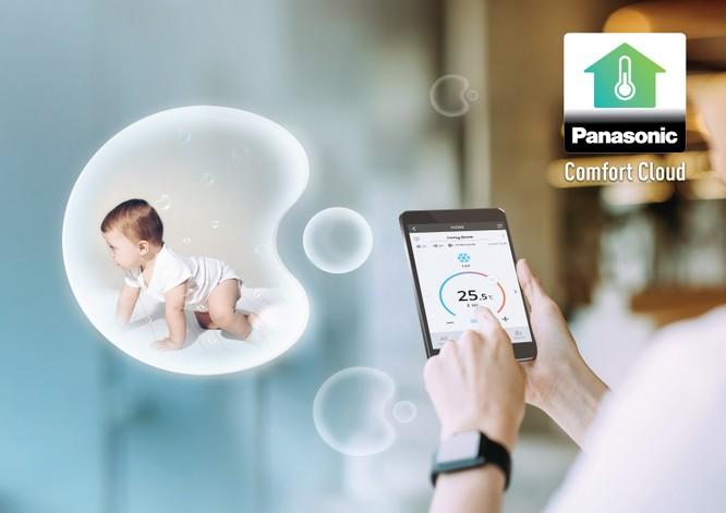 Panasonic Comfort Cloud_kết nối điều hòa với điện thoại thông minh thông qua Wi-Fi