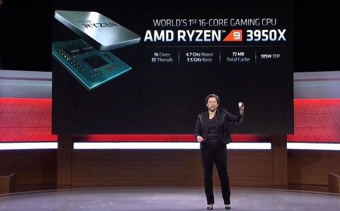 AMD Ryzen 9 3950X là CPU chơi game 16 nhân đầu tiên trên thế giới, giá 749 USD ảnh 1