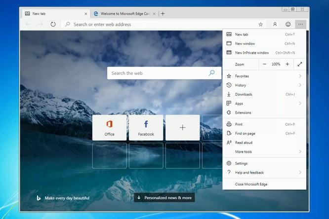 Microsoft phát hành phiên bản EDGE Chromium cho Windows 7 và 8 ảnh 1