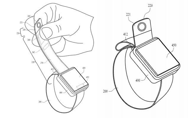 Apple Watch tương lai sẽ được trang bị camera đặt ở cuối dây đeo? - Ảnh 1.