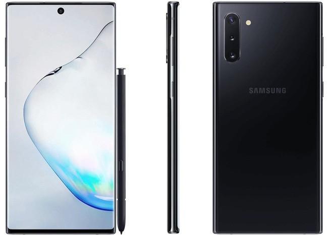 Hình ảnh Galaxy Note 10 phiên bản màu đen.