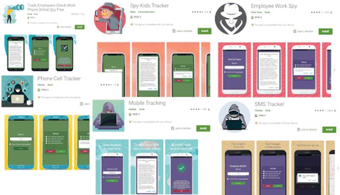 Các ứng dụng có chức năng theo dõi trên Google Play Store