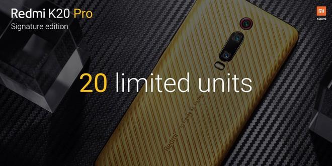 Xiaomi trình làng Redmi K20 Pro Signature Edition, lưng bằng vàng nguyên chất, đính kim cương, chỉ sản xuất 20 chiếc - Ảnh 2.