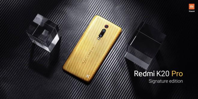 Xiaomi trình làng Redmi K20 Pro Signature Edition, lưng bằng vàng nguyên chất, đính kim cương, chỉ sản xuất 20 chiếc ảnh 1
