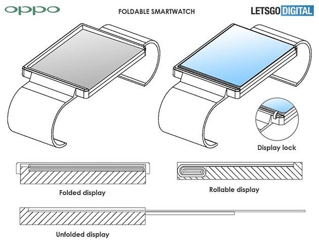 Oppo âm thầm phát triển smartwatch có màn hình gập ảnh 1