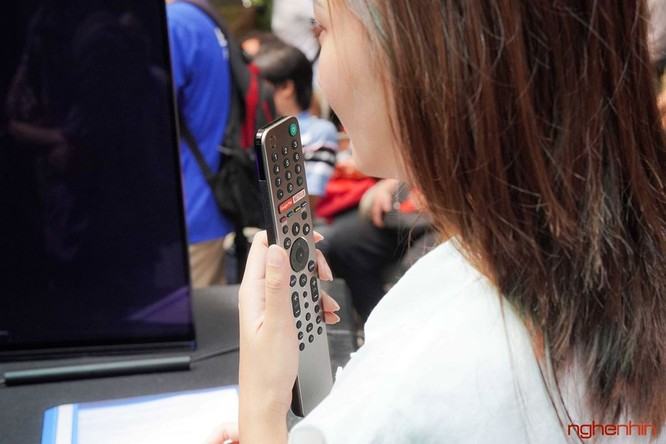 Đưa Micro trên điều khiển lại gần miệng và ra lệnh cho trợ lý Google.