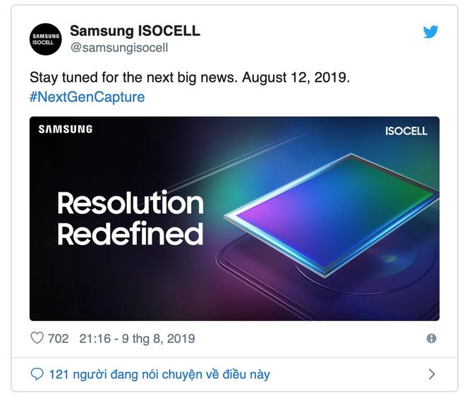 Samsung ra mắt cảm biến máy ảnh độ phân giải 108MP vào ngày 12/8 ảnh 1