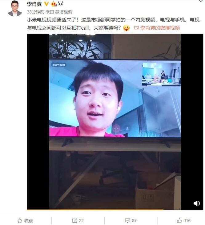 TV Xiaomi sẽ hấp dẫn hơn khi có tính năng gọi điện video ảnh 2