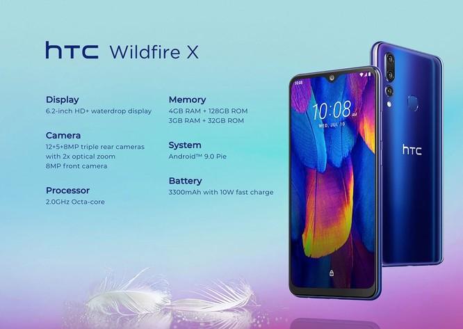 HTC Wildfire X ra mắt: 3 camera sau, RAM 3GB, pin 3.300mAh, giá 155 USD ảnh 4