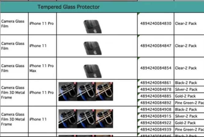 Tên của 3 mẫu iPhone mới xuất hiện trên trang của một nhà sản xuất phụ kiện. Ảnh: iPhonesoft.