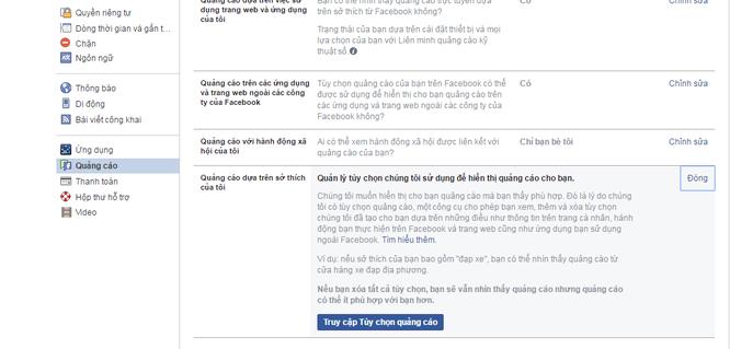 chặn quảng cáo facebook