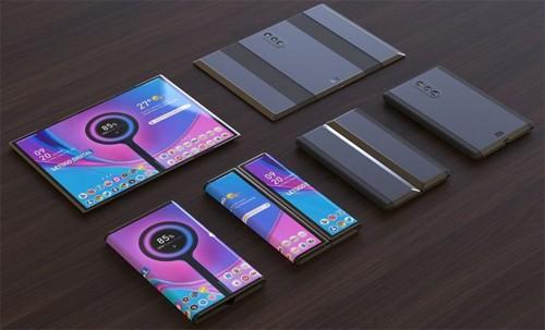 Hình dung về smartphone gập ba của Xiaomi