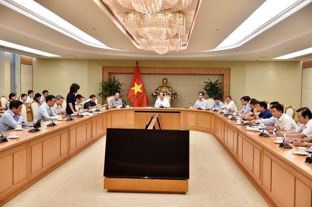 Lãnh đạo 8 tỉnh, thành được kiểm tra báo cáo về nhiệm vụ xây dựng Chính phủ điện tử với Tổ công tác của Thủ tướng (Ảnh: NB)