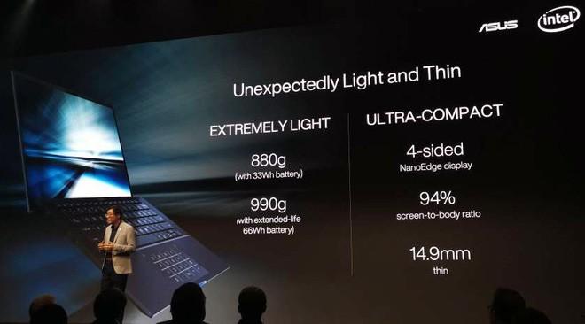 Asus ra mắt laptop nhẹ nhất thế giới, trọng lượng 880g ảnh 1