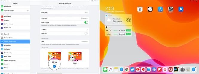 Cách tăng giảm kích thước biểu tượng ứng dụng trên iPadOS 13