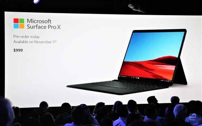 Surface Pro X: chiếc Surface đẹp nhất Microsoft từng tạo ra, giá từ 999 USD ảnh 7