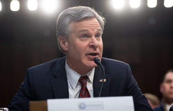 Giám đốc Cục Điều tra Liên bang Mỹ (FBI) Christopher Wray. (Nguồn: Getty Images)