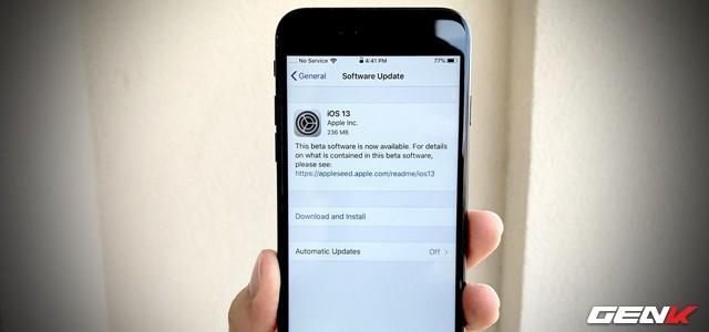 iOS 13: Khắc phục lỗi không thể cài đặt bản cập nhật sau khi tải về - Ảnh 1.