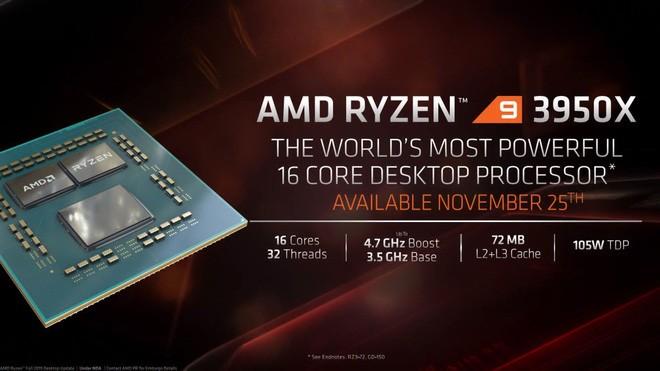 Ông vua mới Ryzen 9 3950X chính thức lộ diện: Vượt xa Core i9-9900K ở tác vụ sáng tạo nội dung, hiệu năng chơi game ngang ngửa - Ảnh 1.