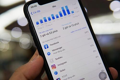Các ứng dụng mạng xã hội thường chiếm top đầu trong danh sách tiêu thụ pin trên smartphone. Ảnh: Lưu Quý