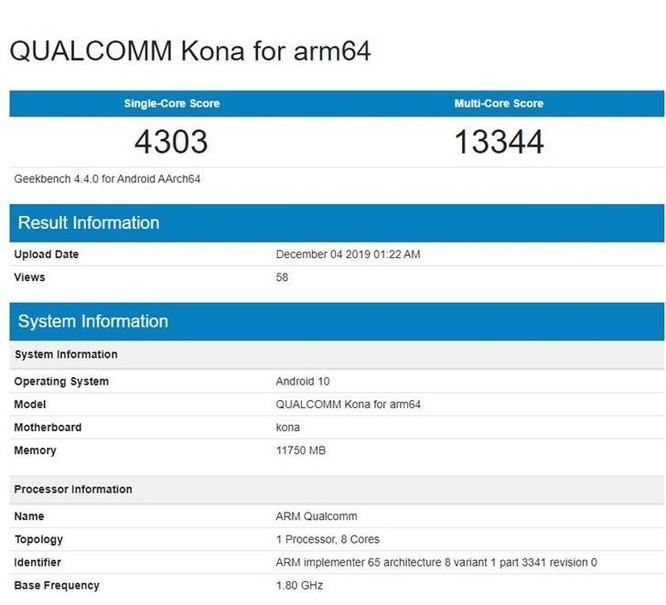 Đây là điểm hiệu năng Snapdragon 865, cao nhất nhưng không vượt trội ảnh 2