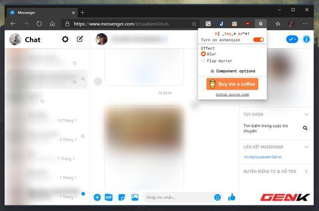 Thủ thuật đơn giản giúp tránh bị xem lén tin nhắn Facebook trên Google Chrome ảnh 5