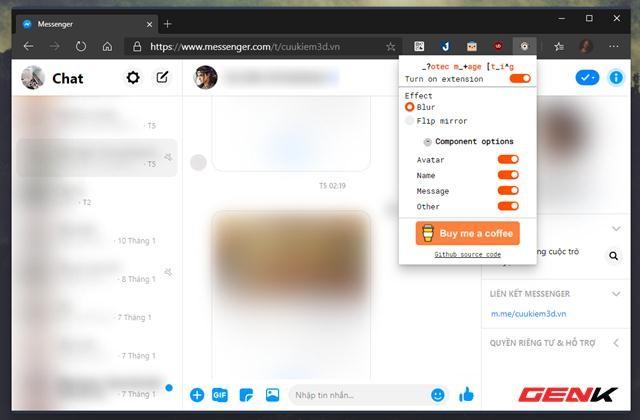 Thủ thuật đơn giản giúp tránh bị xem lén tin nhắn Facebook trên Google Chrome ảnh 6