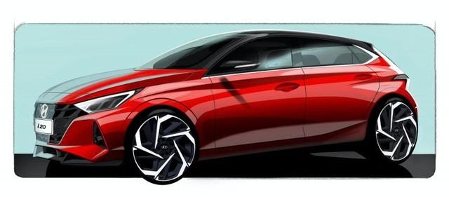 Dù hình ảnh đồ họa là một thiết kế có tính cường điệu cao, nhưng cũng cho thấy phong cách chủ đạo mới của Hyundai i20.