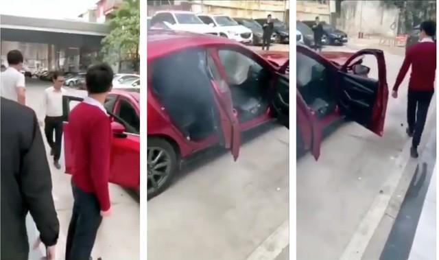 Đại diện Thaco không bình luận về cách thức thực hiện tính năng phanh tự động khẩn cấp của nhân viên đại lý Mazda Giải Phóng trong đoạn clip này.