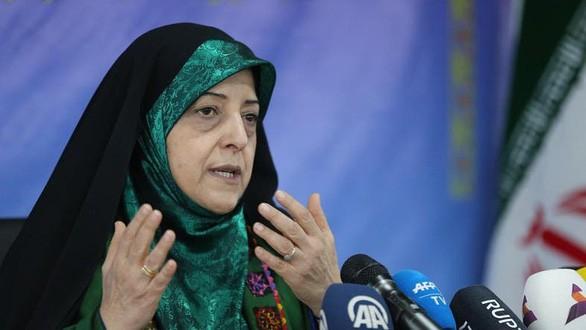 Phó tổng thống Iran phụ trách vấn đề gia đình và phụ nữ, bà Masoumeh Ebtekar - Ảnh: AFP