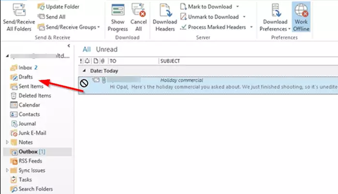 """Sửa lỗi email """"mắc kẹt"""" trong Outbox ảnh 2"""