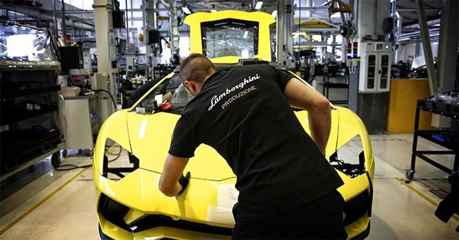 Lamborghini tạm đóng cửa nhà máy của mình trong hai tuần. Ảnh: Lamborghini