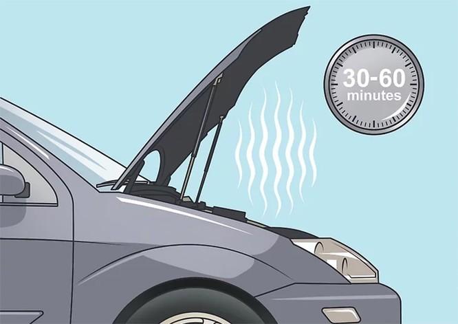 Chờ động cơ thoát nhiệt từ 30-60 phút.