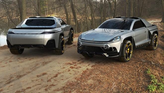 Xe bán tải của Porsche sẽ trông như thế nào? ảnh 1