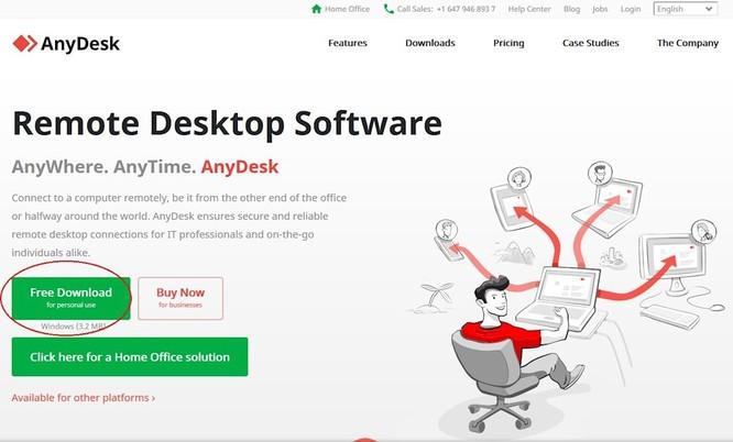 Để sử dụng AnyDesk, chúng ta chỉ cần truy cập địa chỉ anydesk.com rồi bấm