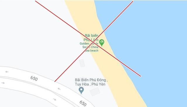 Bãi biển ở TP. Tuy Hòa (Phú Yên) Google Maps lại chú thích sai nghiêm trọng thành