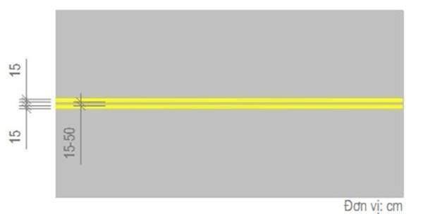 Vạch màu vàng song song