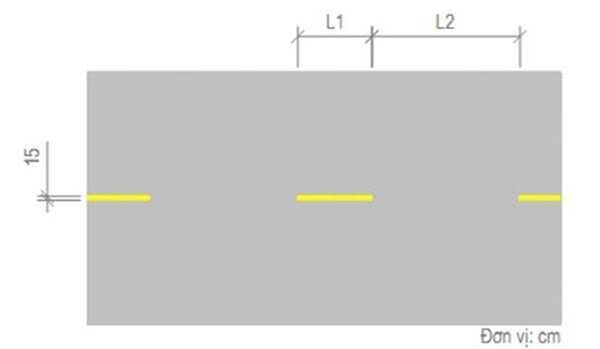 Vạch màu vàng nét đứt