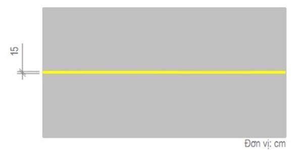 Vạch màu vàng nét liền