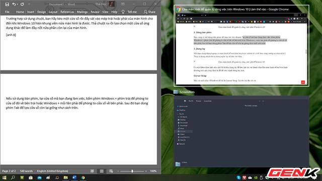 Windows 10 cũng có chức năng chia màn hình như trên macOS, thậm chí là đa năng hơn ảnh 1
