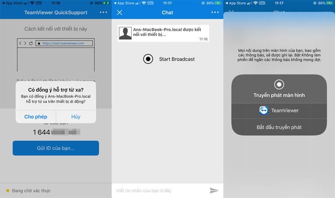 Cách chia sẻ màn hình iPhone hoặc iPad qua TeamViewer ảnh 5